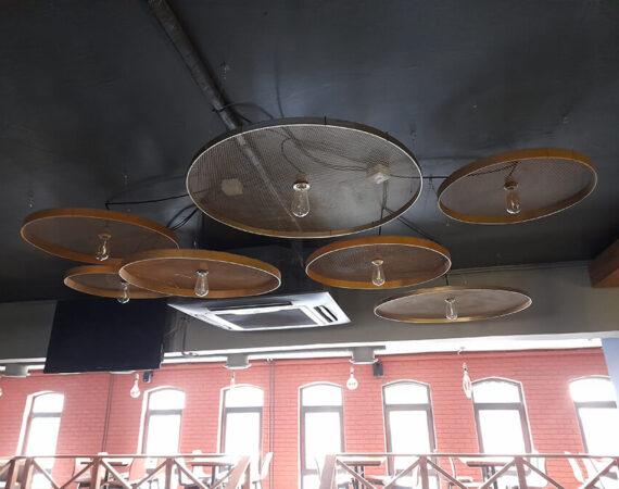 светильники в кафе